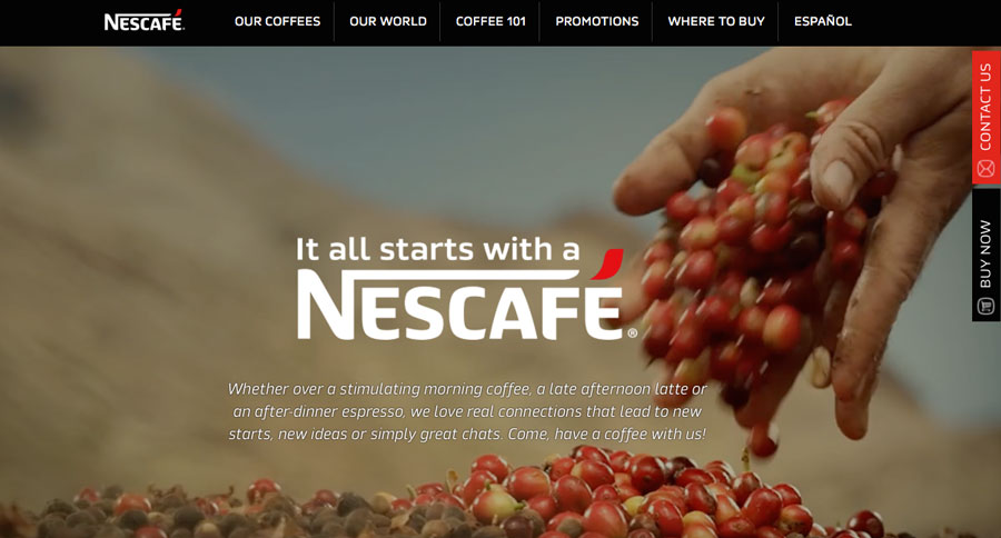 Localised-Websites---Nescafe-US-