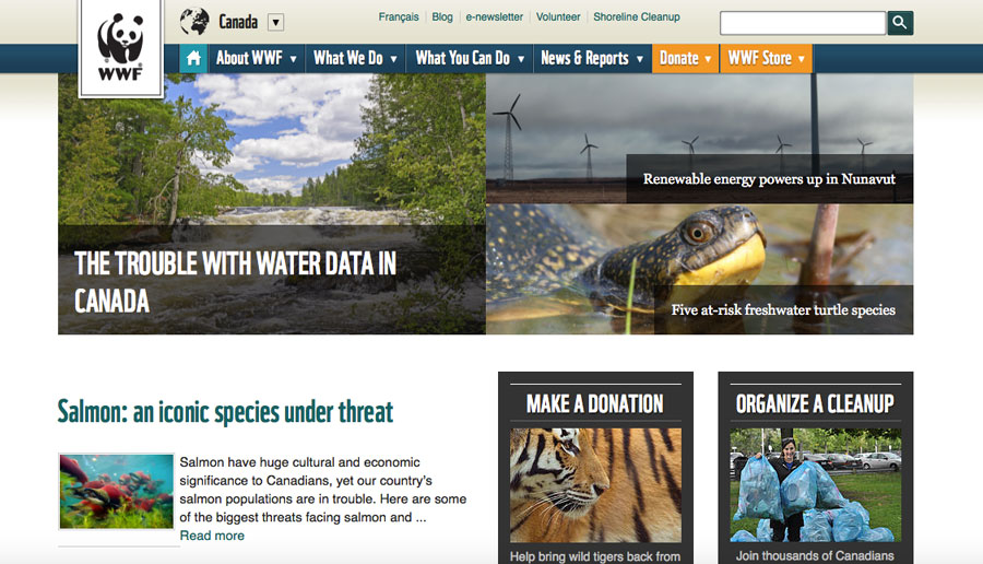 Localised-Websites---WWF-Canada